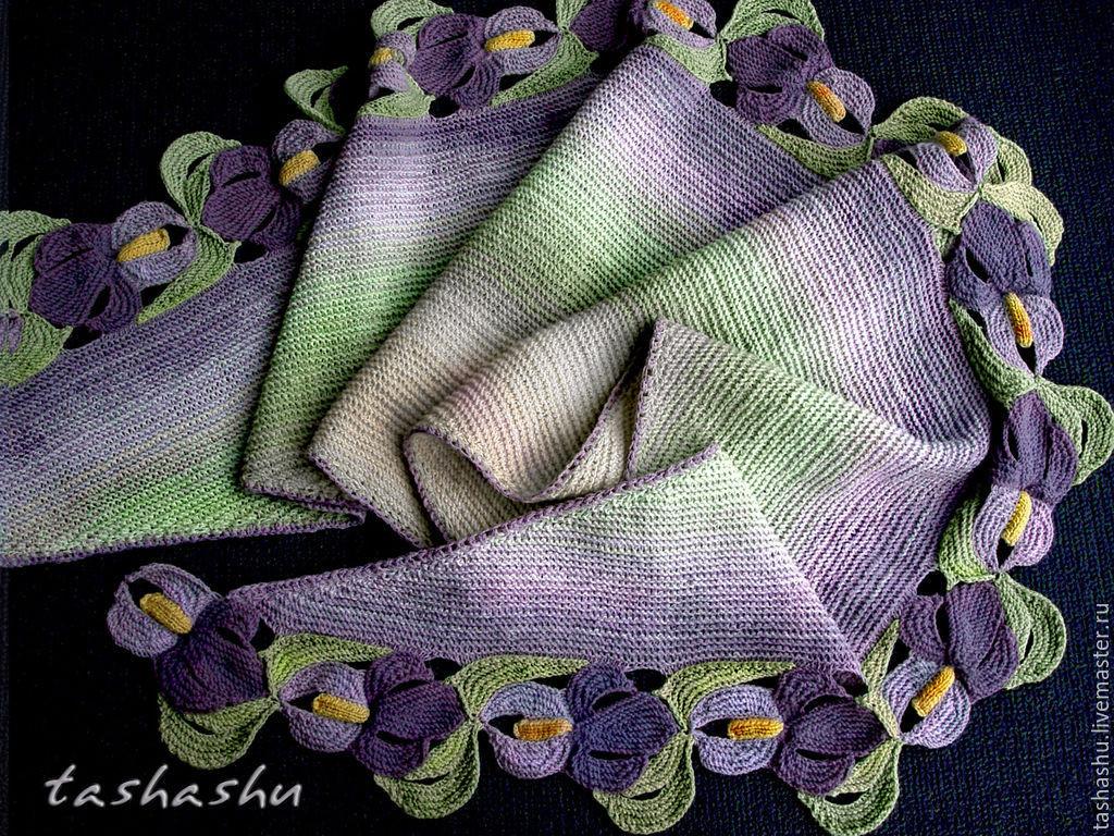 欣赏一组披肩(我个人认为织着不难只要把颜色搭配好也很漂亮) - maomao - 我随心动
